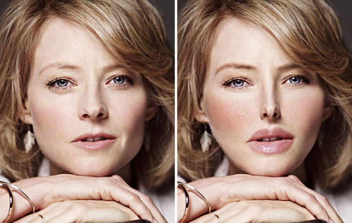 Так после пластических операций выглядело бы лицо Джоди Фостер (Jodie Foster) - актрисы, сыгравшей главную роль в фильме «Молчание ягнят».