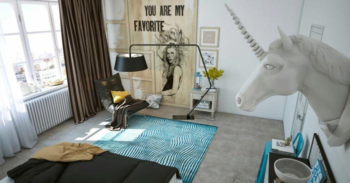 Оригинальный дизайн квартиры, созданный для семьи художников, живущей в Северной столице России.
