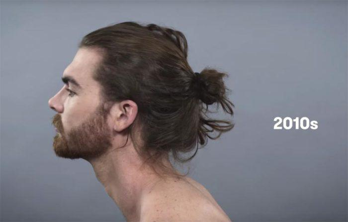 Cегодня самая модная мужская прическа - это волосы, собранные в пучок.