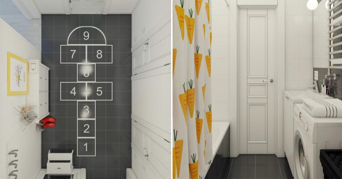 Апартаменты, дизайн которых выполнен с использованием игровых элементов.