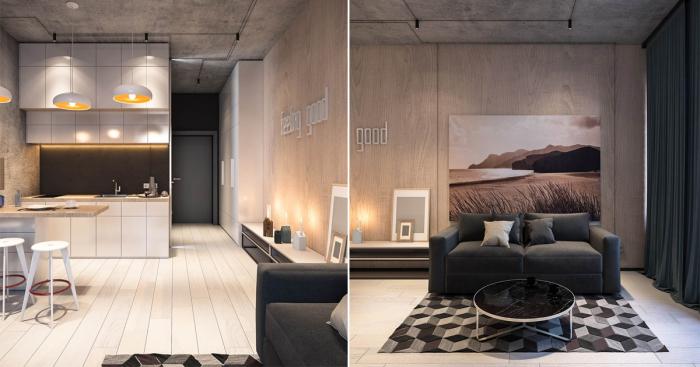 Роскошная квартира-студия, площадь которой всего лишь 26 квадратных метров.