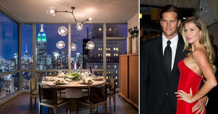 Супермодель Жизель Бундхен (Gisele Bundchen) и ее муж футболист Том Брэди (Tom Brady) приобрели шикарную квартиру с невероятной панорамой Нью-Йорка.