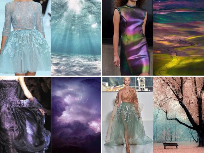 Прекрасные платья, дизайн которых навеян самой природой.