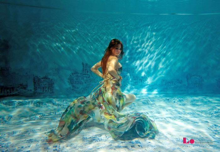 Не просто показ мод, а настоящее подводное шоу от талантливого российского дизайнера Яны Недзвецкой (Jana Nedzvetskaya).
