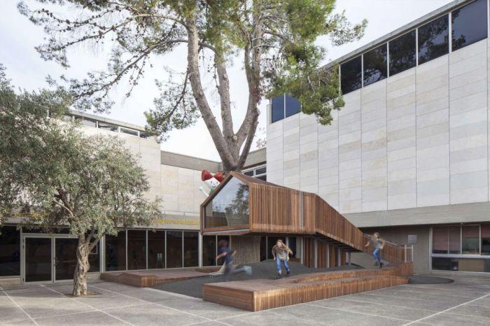 В Иерусалиме архитекторы буквально вырастили домик на дереве.