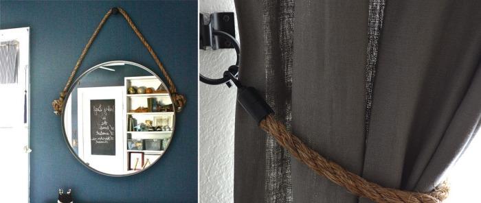 Специальный жгут может пригодиться для декора штор и зеркал.