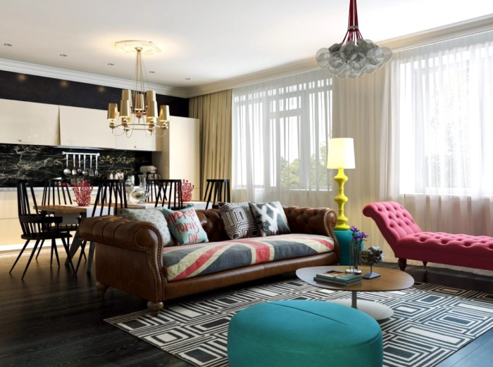 Гостиная, которая предназначена для отдыха и приема больших компаний друзей, родных и близких.