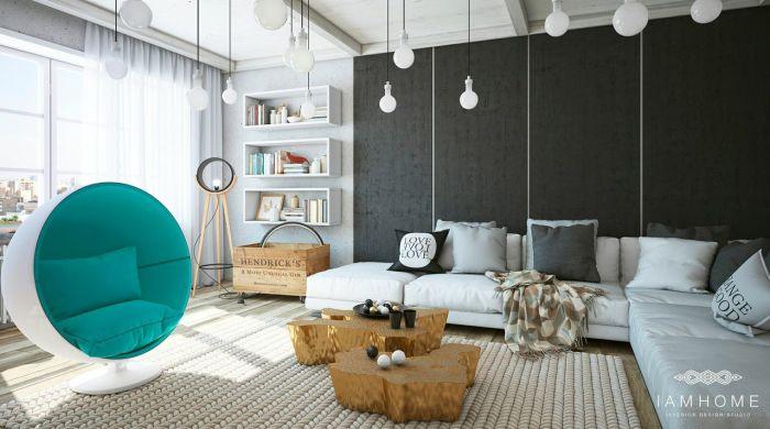 Комфортная гостиная для уютных встреч с многочисленными знакомыми и друзьями.