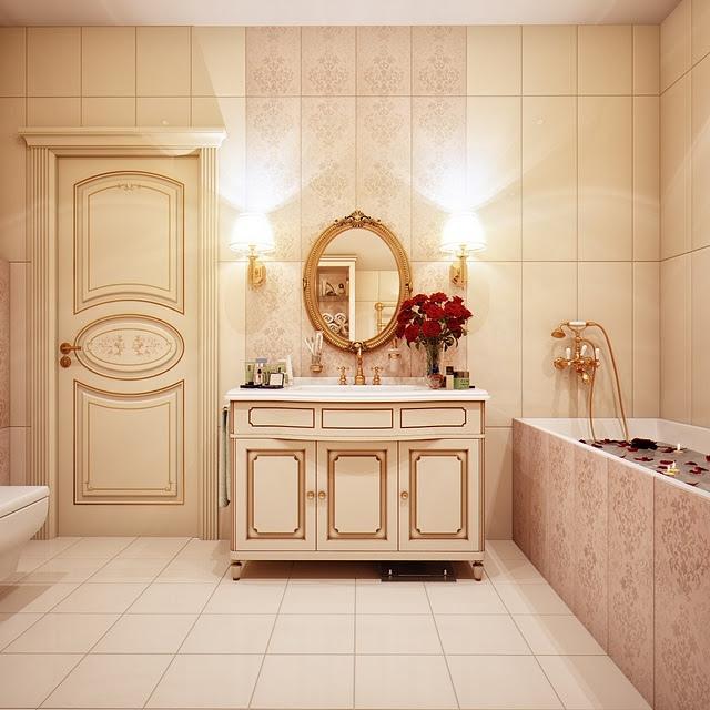 Кажется, что ванная комната находится прямо в Эрмитаже.