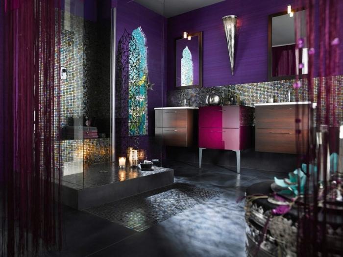 Шик, блеск и красота - все это о ванной, оформленной в марокканском стиле.