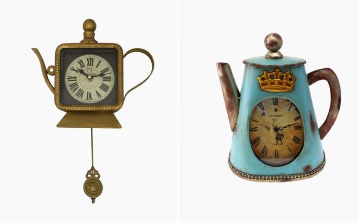 Замечательные кухонные часы в виде заварочников.