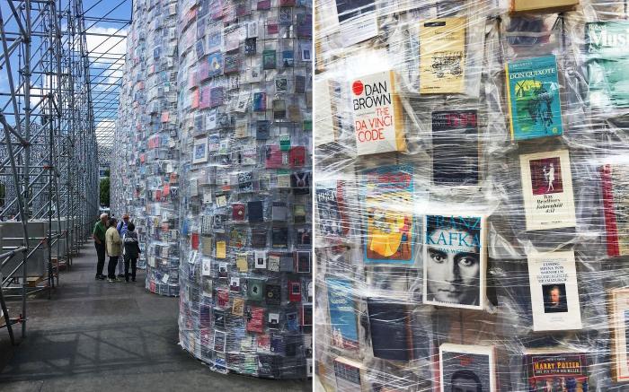 Более сотни тысяч книг были использованы для строительства своеобразного Парфенона в Германии.