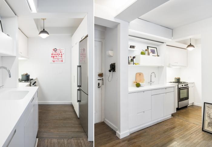 Маленькая, но удобная и комфортная кухня.