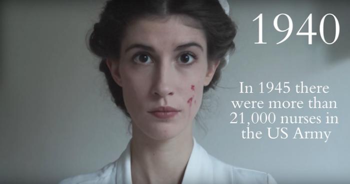 1945-м году более 21 тысячи медсестер работали в армии Соединённых Штатов Америки.