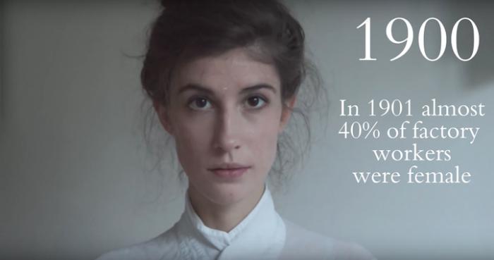 В 1901-м году почти сорок процентов фабрично-заводских рабочих были женщинами.