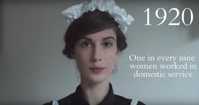 В двадцатые годы прошлого столетия каждая девятая женщина работала в качестве домашней прислуги.