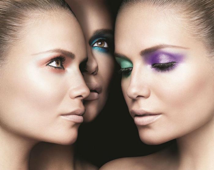Яркие тени для глаз в моноцвете - один из летних трендов в макияже в 2016 году.