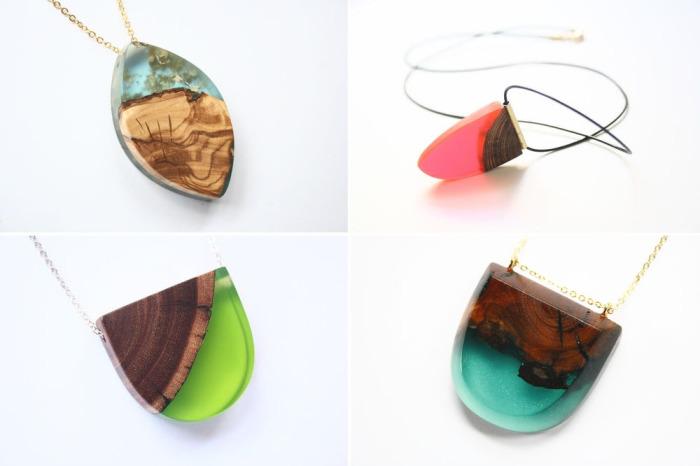 Оригинальные аксессуары ручной работы из экологически чистых материалов - древесины и смолы, которые создает дизайнер из Мельбурна Бритта Бекман (Britta Boeckmann).