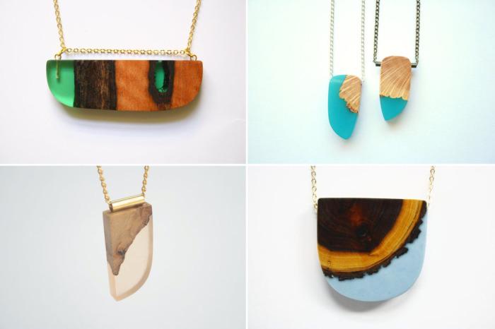 Дизайнер из Мельбурна (Австралия) Бритта Бекман (Britta Boeckmann) продает свои украшения ручной работы из смолы и древесины под маркой BoldB.