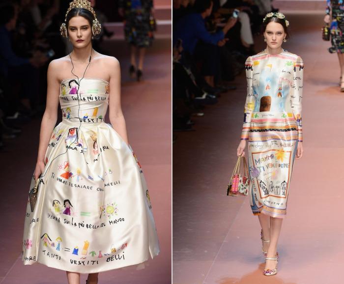 Платье дольче габбана с рисунками