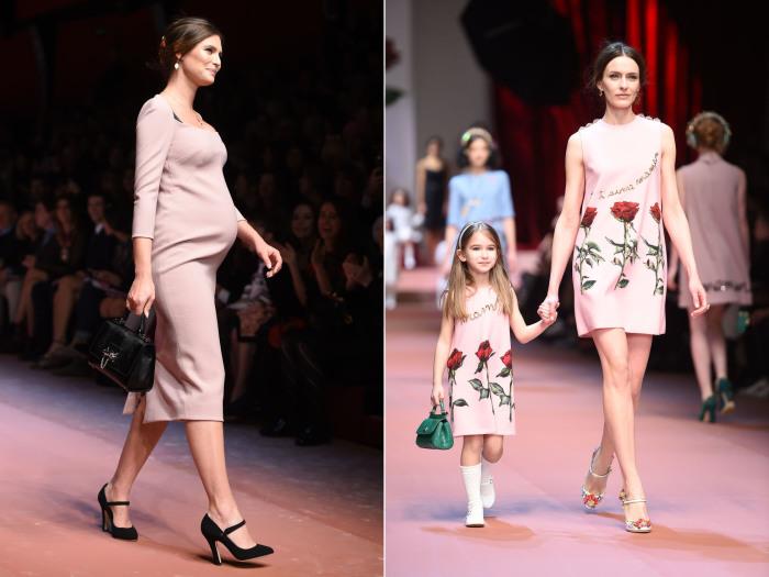 Новая коллекция Dolce & Gabbana на Неделе моды в Милане.