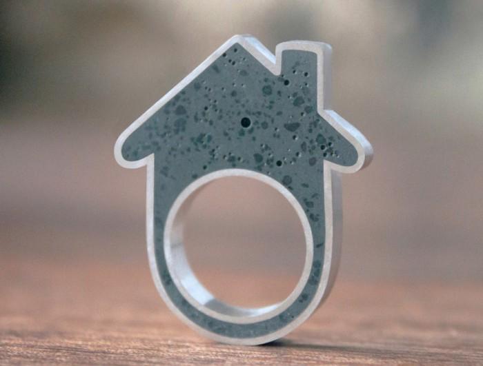 Кольца из бетона для любителей hand-made.