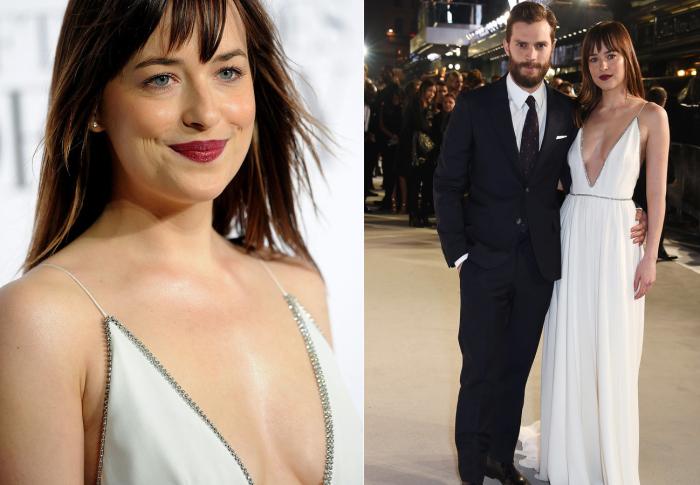 Белое платье Дакоты Джонсон - самый сексуальный наряд актрисы