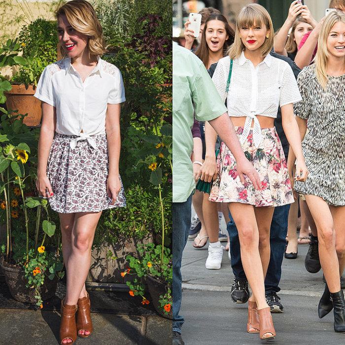 В течение пяти дней фешн-редактор по имени Саманта Саттон (Samantha Sutton) создавала образы, повторяющие стиль известной американской певицы и актрисы Тейлор Свифт (Taylor Swift).