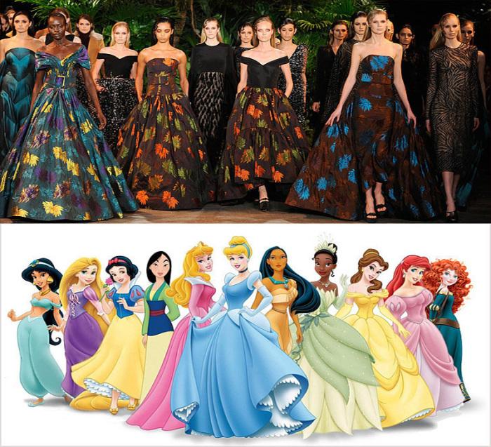 Если бы диснеевские принцессы появились на Неделе моды в Нью-Йорке.