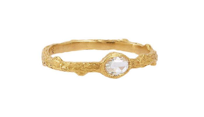 Cathy Waterman Branch Ring With White Diamond, вставка - бриллиант, цена - 1,980 долларов.