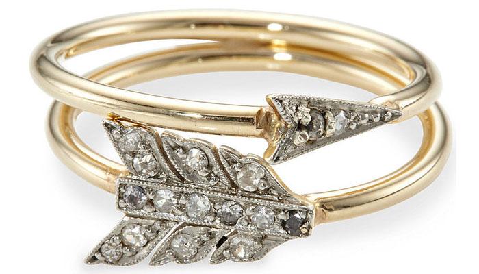 Annina Vogel Diamond Arrow Ring, вставки - бриллианты, цена - 3 миллиона 443 тысячи долларов.