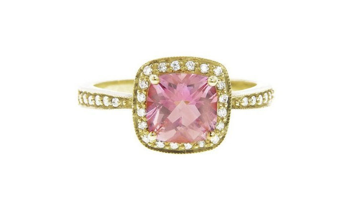 Jude Frances Baby Pink Topaz and Diamond Ring, вставки - розовый топаз, бриллианты, 1,192 доллара.