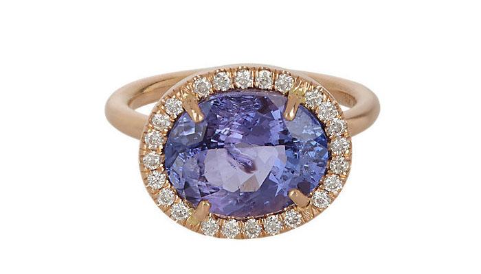Irene Neuwirth Tanzanite and Diamond Ring, вставки - танзанит, бриллианты, цена - 9,500 долларов.