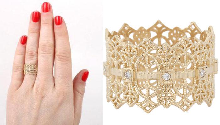 Grace Lee Lace Crown Ring, вставки - бриллианты, цена - 1,585 долларов.
