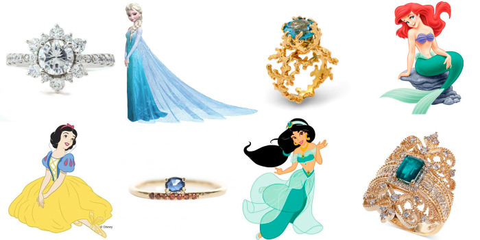 Диснеевские принцессы вдохновили ювелиров на создание уникальных обручальных колец.