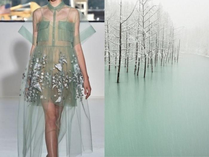 Природа в качестве дизайнера в проекте Fashion & Nature.
