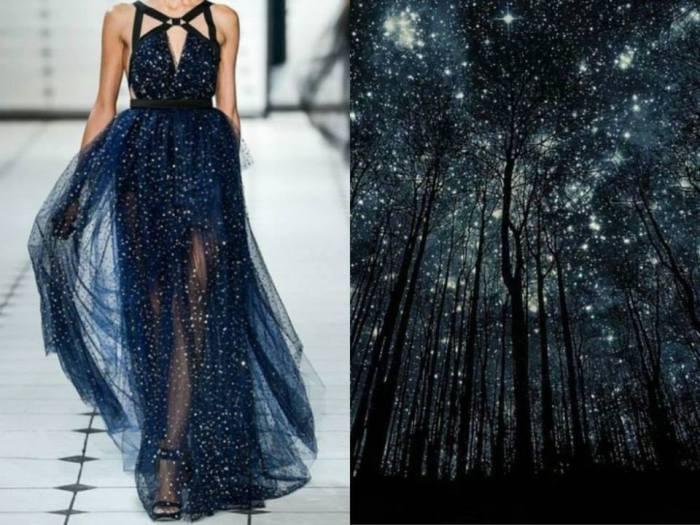 Шикарное платье Звездная ночь в проекте Fashion & Nature.