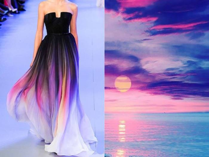 Восхитительное платье Закат в проекте Fashion & Nature.