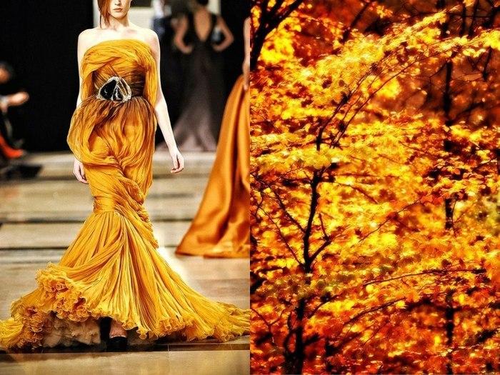 Необычное платье Золото листвы  в проекте Fashion & Nature.