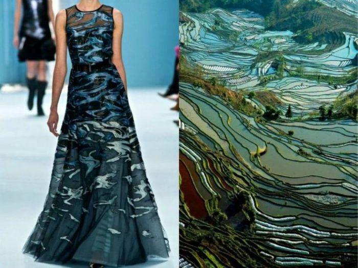 Чудесные платья, навеянные красотой природы, в необычном проекте Fashion & Nature.