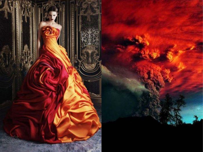 Потрясающее платье Вулкан в проекте Fashion & Nature.