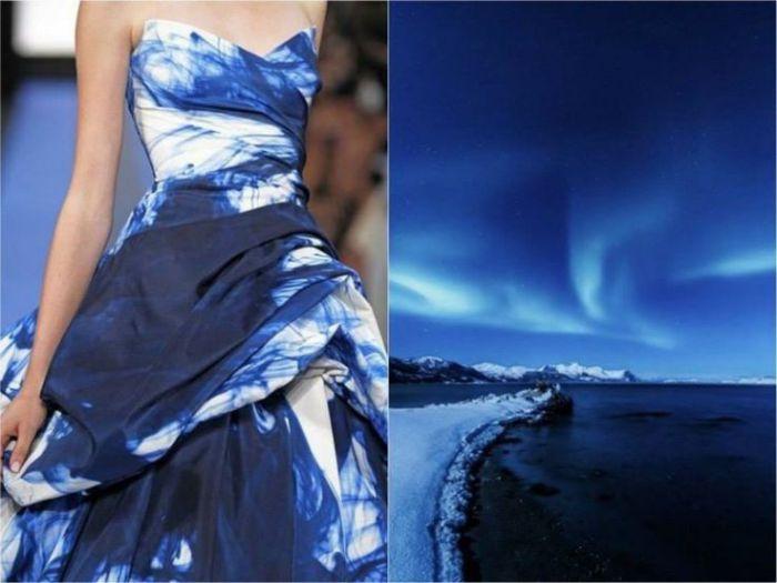 Оригинальное платье Северное сияние в проекте Fashion & Nature.