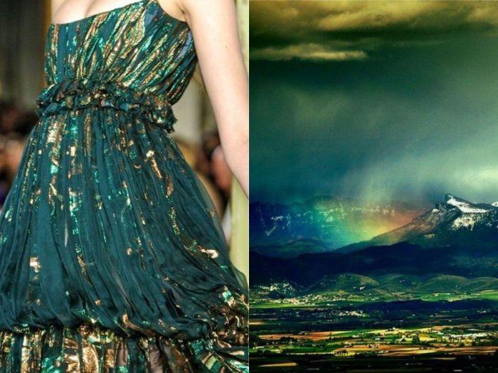 Замечательное платье Радуга в проекте Fashion & Nature.