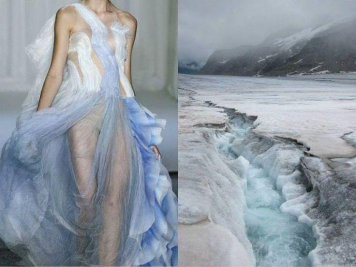 Уникальное платье Водопад в проекте Fashion & Nature.