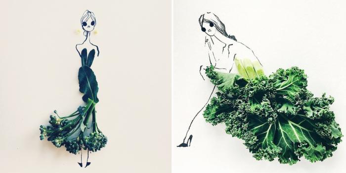 Оригинальные и стильные платья, созданные дизайнером из различных продуктов питания.