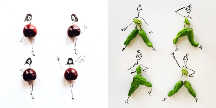 Необычные наряды, созданные художницей Гретхен Роерс (Gretchen Roehrs) из различных продуктов питания.
