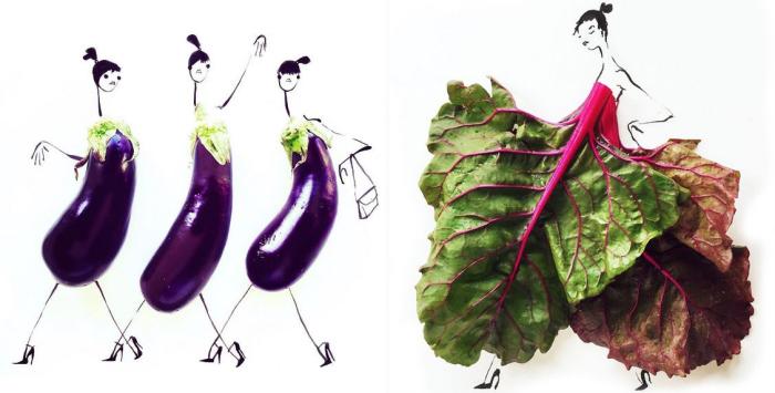 Удивительные платья, созданные художницей Гретхен Роерс (Gretchen Roehrs) из различных овощей.