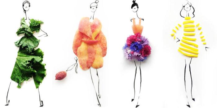 Оригинальные наряды, созданные художницей Гретхен Роерс (Gretchen Roehrs), могут стать  основой для настоящих модных дизайнерских коллекций.