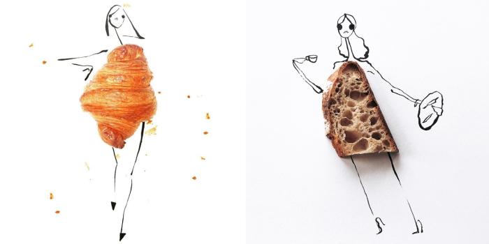 Удивительные наряды, созданные художницей Гретхен Роерс (Gretchen Roehrs) из хлебобулочных изделий.