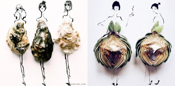 Необычные платья, созданные художницей Гретхен Роерс (Gretchen Roehrs) из различных продуктов питания.